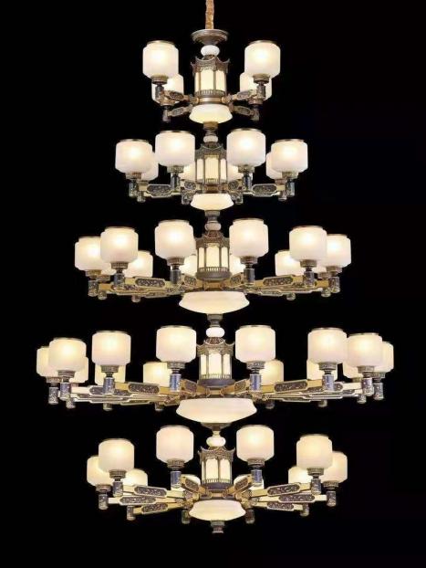 江苏新中式铜材大吊灯